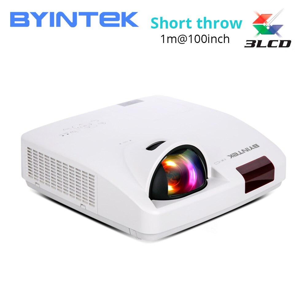 BYINTEK CLOUD C600LST courte portée lumière du jour hologramme 3LCD vidéo XGA WXGA 1080P projecteur FUll HD pour les affaires d'éducation au cinéma
