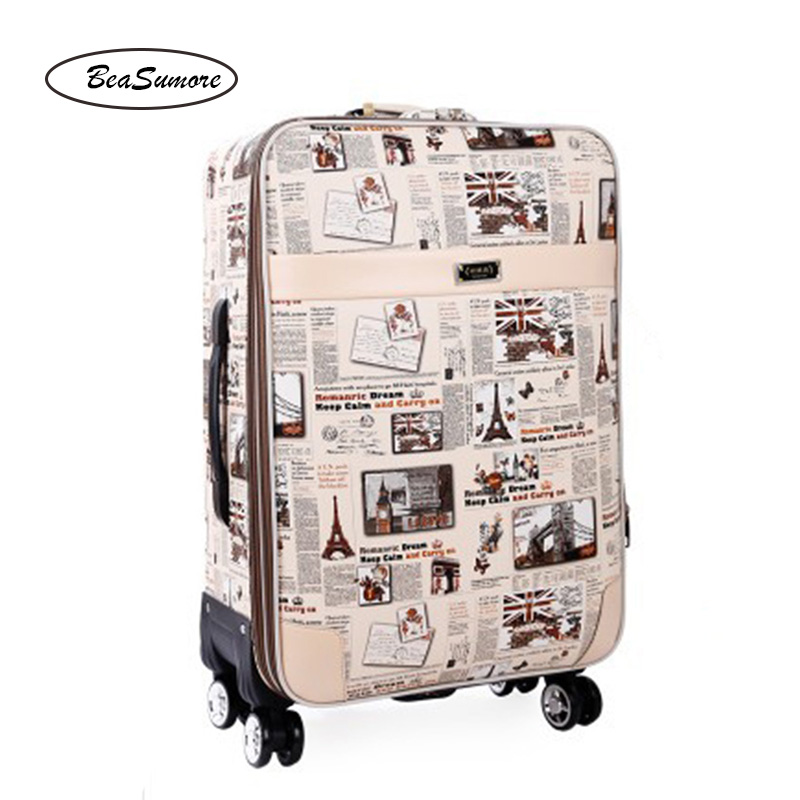 BeaSumore 28 Inch Large Capacity Rolling Luggage Spinner Multifunction 20 Inch Laptop Bag Men Women Password Suitcase Wheels