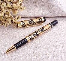 Jinhao 5000 Vintage Luxe Metalen Rollerball Pen Mooie Dragon Textuur Carving, Black & Gouden Inkt Pen voor Kantoor Business