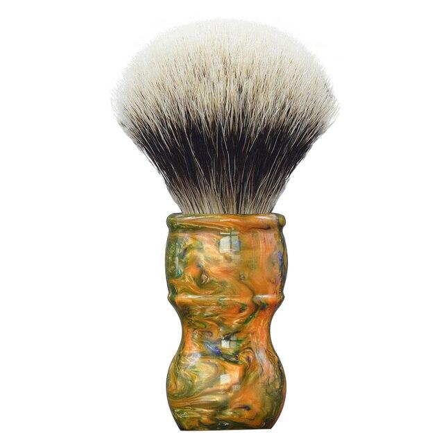 Dscosmetic 24mm Galaxy resina handle 2 banda cabelo silvertip pelo de texugo pincel de barba para o homem fazer a barba