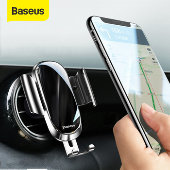 Baseus Car Holder For Phone 360 Degree Air Vent Mount Car Phone Holder Stand For iPhone 11 Samsung Gravity Mobile Phone Holder