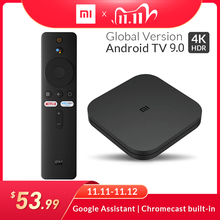 Original Global Xiaomi Mi TV BOX S Smart 4K Ultra HD 2G 8G Android 9.0 WIFI Google Cast Netflix Media Player Set top Box 4