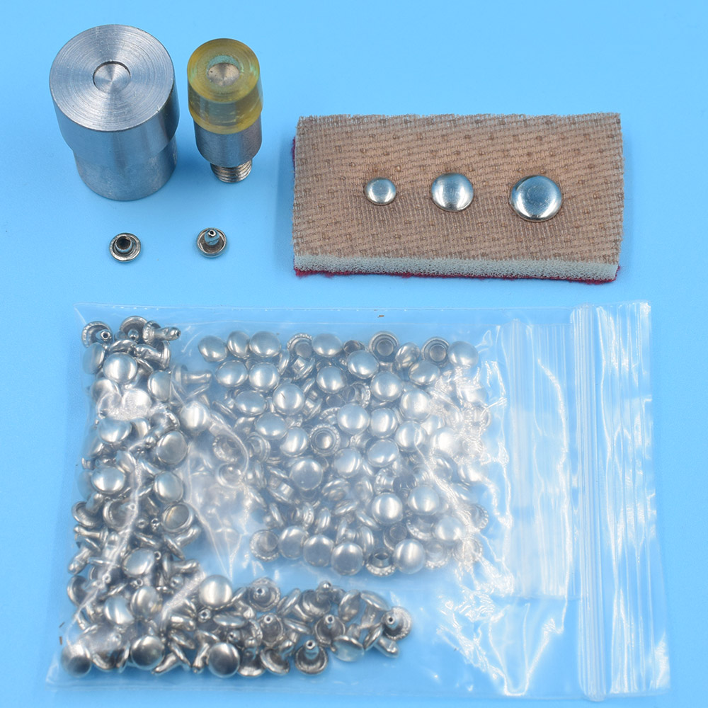 100sets 6mm/7mm/8mm/9mm/10mm close stud rivets with the suited mold DIY Apparel Craft sewing bulk leather bags clothing toolkit