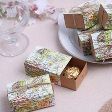 10 Uds todo el mundo mapa Favor cajas caja de detalle de Kraft Vintage del regalo del caramelo bolsa de viaje para Fiesta Temática boda cumpleaños