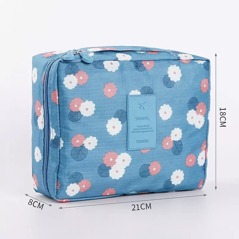 Women Waterproof Cosmetic MakeUp Bag Travel Organizer For Toiletries Toiletry kit, Men Cosmetic Cases Travel Beautician Pouch