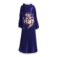 Одеяло с рукавами 3D Печатный волк коралловый плюшевый Шерпа флис мягкий диван одеяло для дома микрофибра теплое одеяло для улицы Манта