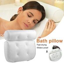 Подушка для ванны, Подушка на присосках для ванной, спа-подушка, 3d сетчатая подушка для ванны, подходит для всех ванн и семейных спа-подушек д...