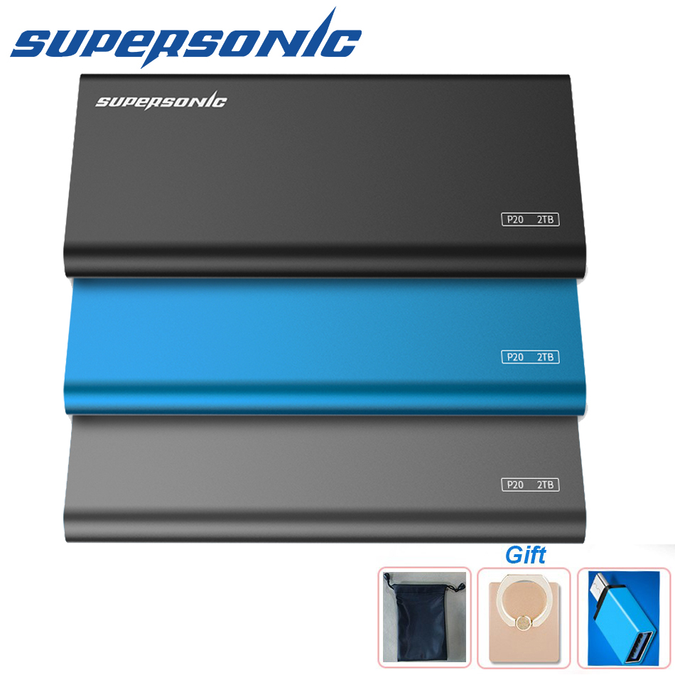 Supersonic P20 Full Metal Portable Solid State Drive 256GB 512GB 1TB 2TB Typc-C USB3.0 SSD For PC Laptop Smartphone