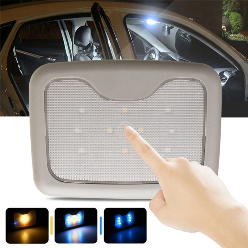 Car Ceiling Reading Light Car Magnetic Roof Light USB Charging Rear Row LED Car Interior Reading Lamp For Car Trunk Light