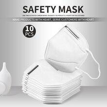 5/10 Pcs KN95 Respirator mask Facial Protective Mask Mouth Mask Anti-COVID-19 Anti-influenze Anti-Virus Safety Earloop Dust Mask anti dust respirator safety face mask white 10 pcs