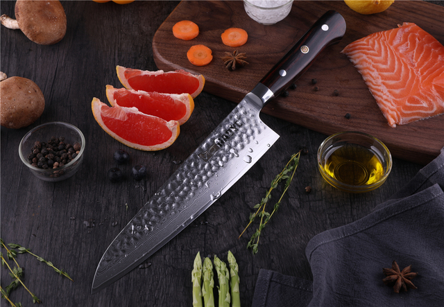 HAOYE TIME 8.2 inch Gyuto Damascus Steel Chef Knife