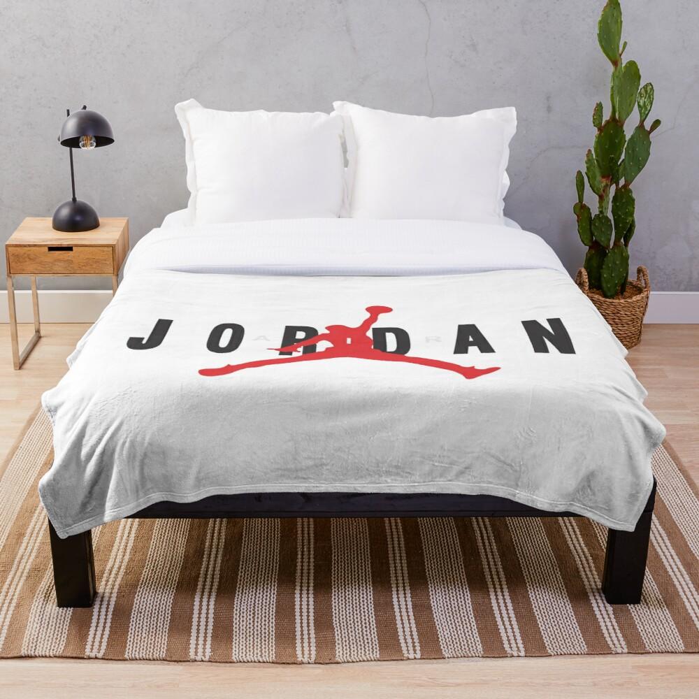 Jordan Air Merch Throw Blanket Soft Sherpa Blanket Bed Sheet Single Knee Blanket Office Nap Blanket