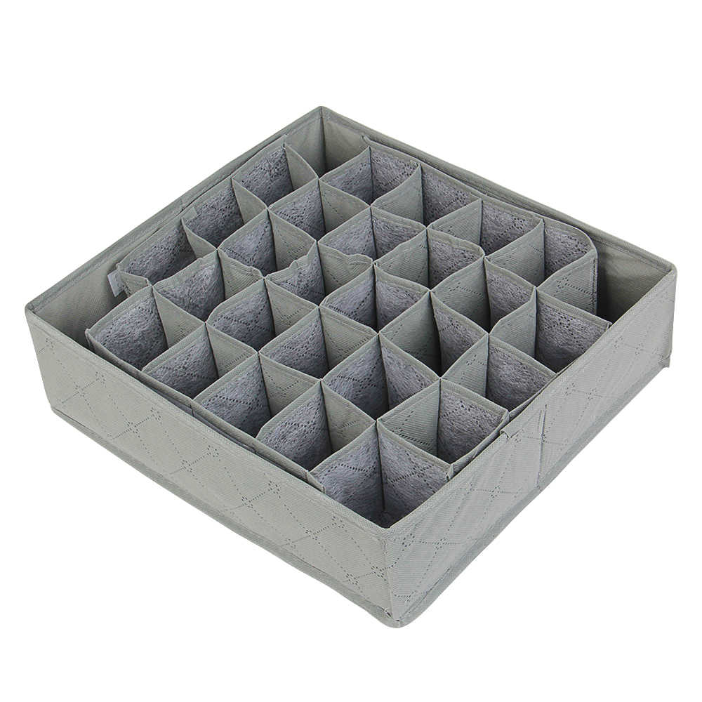 Bamboo Charcoal Non-woven Fabric Foldable Storage Box Underwear Organizer Bra Necktie Panties Socks Case Drawer