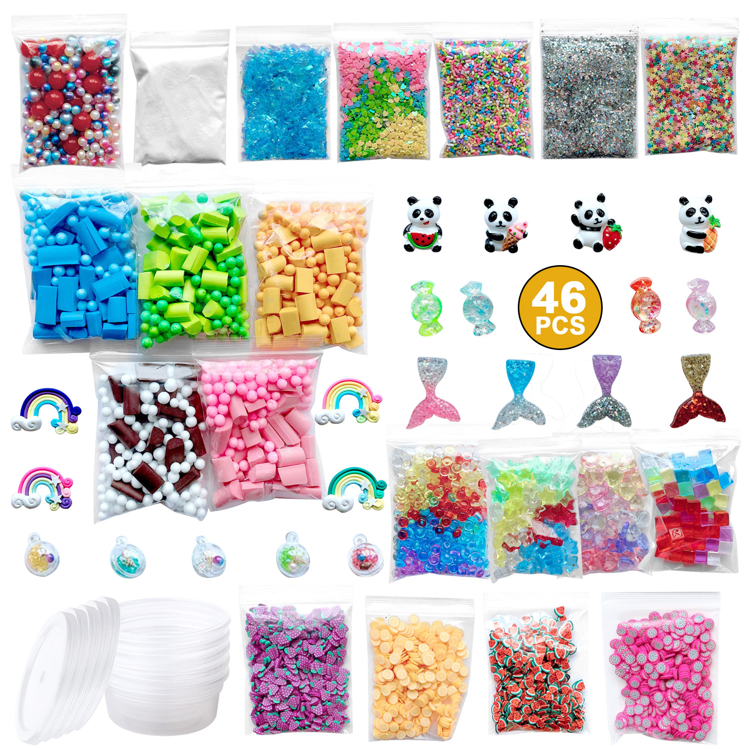 Super Slime Supplies Beads Charms Include Floam Beads Colorful Sugar Paper  Accessories Slime Tools For Slime Making DIY Craft