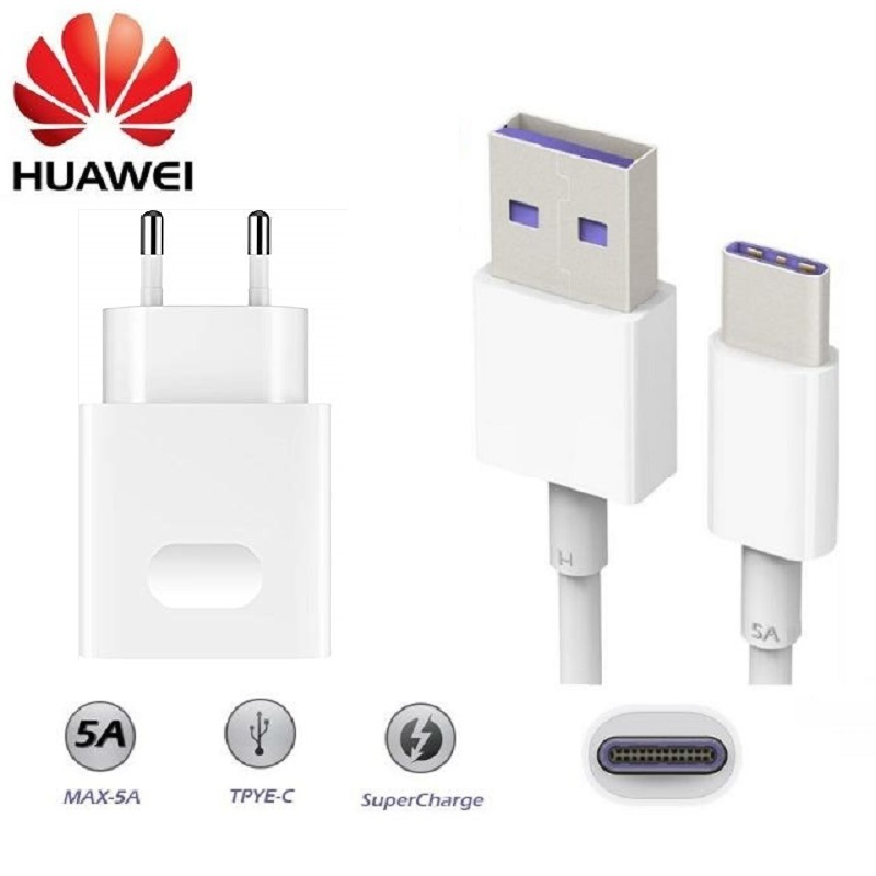 20 Huawei Original Fast Charger Mate 20 Pro P20 Mate 9 10 Supercharge Quick Travel Wall Adapter 4.5v5a/5v4.5a Type-c 3.0 Usb Cable (2)