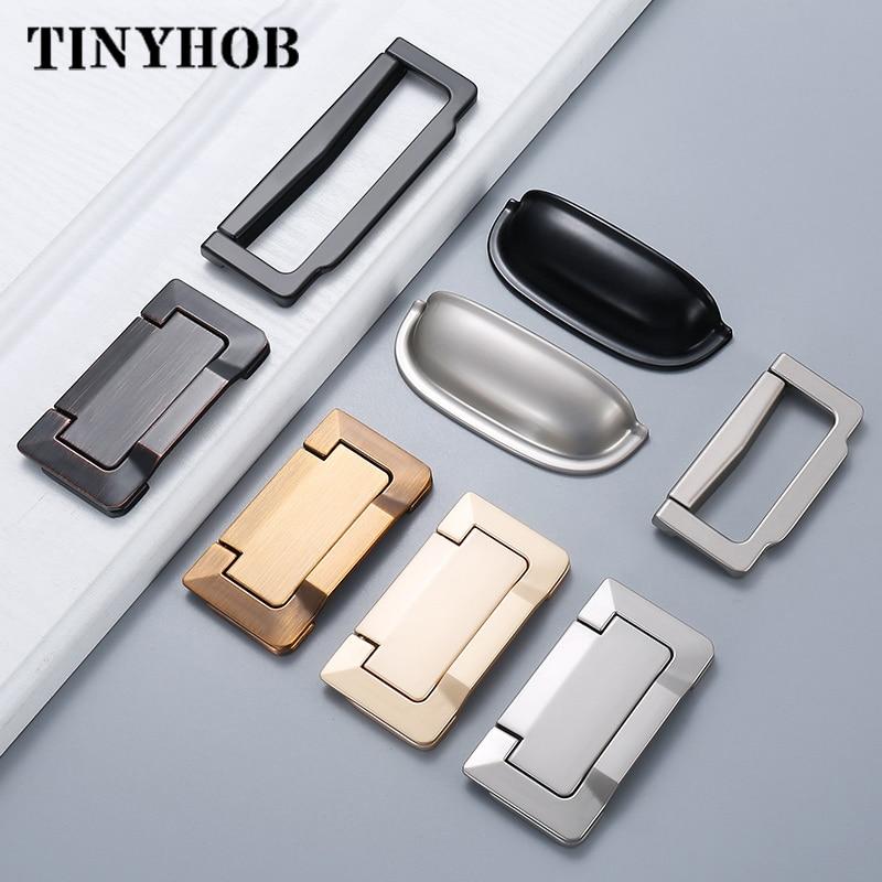 Hidden Door Handle Zinc Alloy Tatami Recessed Pull Sliding Door Handles Bedroom Cabinet Handle Furniture Handle Hardware Cabinet Pulls Aliexpress