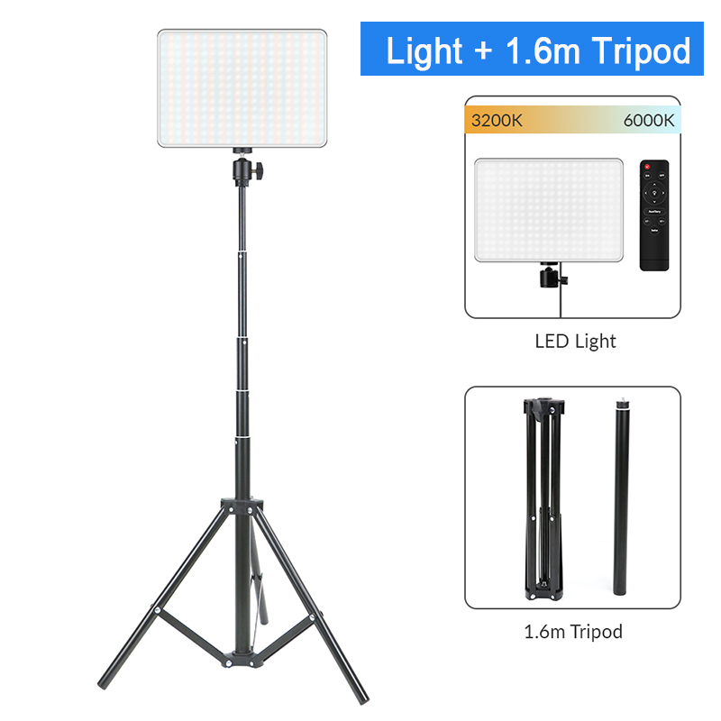 He68b58c9c78d419cb42c639094cdddd6c Dimmable LED Video Light Panel EU Plug 2700k-5700k Photography Lighting For Live Stream Photo Studio Fill Lamp Three Color