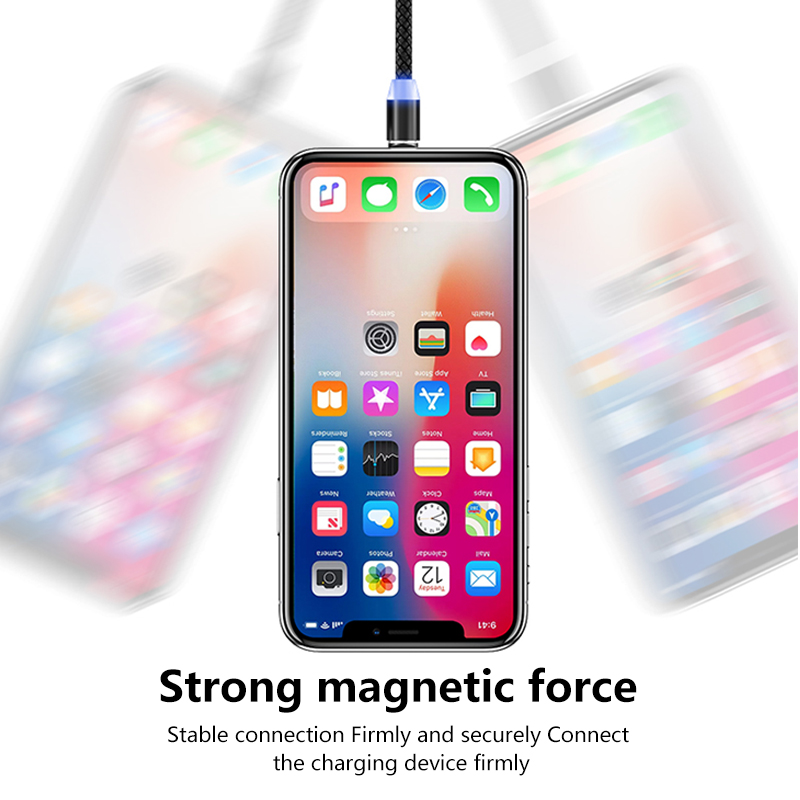 3‑in‑1 Magnetic Phone Charger Cable with Lightning