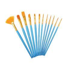 12 шт жемчужно синий Рисование стержней Акварельная ручка набор
