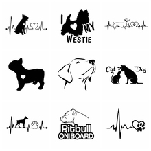 Hot Sale Dog car Sticker Animals Funny Wrap Vinyl On The Cars For Auto Motorcycle Windows Body Car-Styling Decor Accessories