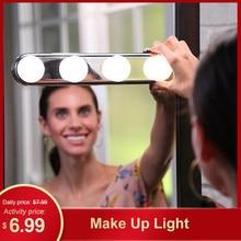 Косметический шкаф, зеркальный светильник s, косметический светильник, косметический светильник, профессиональный макияж, полная мощность, лампа, супер яркий, 4 светодиодный лампы