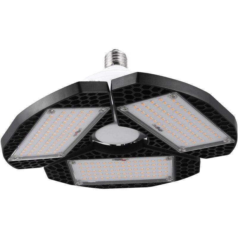 LED Garage Lights, 50W E27 2000LM Deformable Lamp, Tribright Garage Ceiling Lighting For Full Area, LED Light Bulbs For Workshop
