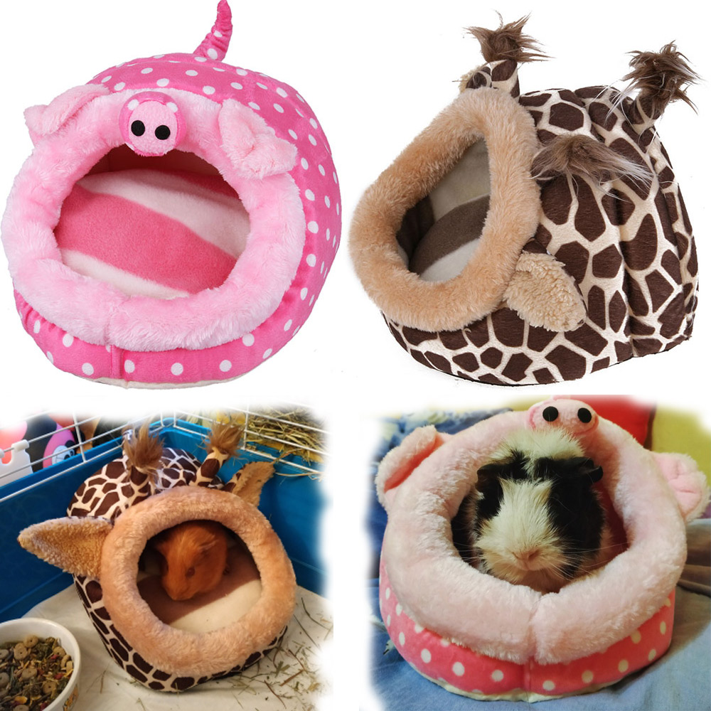 Soft Guinea Pig House Bed Cage for Hamster Mini Animal Mice Rat Nest Bed Hamster House Small Pets Product