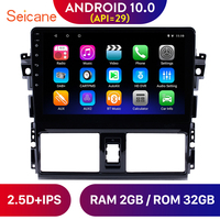 Seicane 10.1 Inch GPS Navi Head Unit Player Android 10.0 Car Radio for 2013 2014 2015 2016 Toyota Vios Mirror Link SWC TPMS