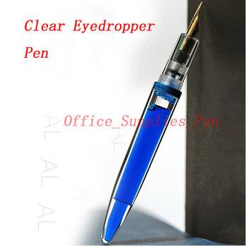 цена на Unbranded Transparent Clear Eyedropper Fountain Pen Ink Pen F Nib Stationery Office school supplies