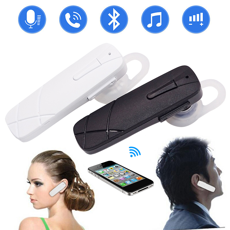 Bluetooth Earphone Stereo Bass Bluetooth Headset Handsfree Earloop Wireless Earpiece With Mic For All Smart Phones Headphones