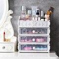 Caixa de armazenamento de gaveta cosmética de plástico nordic jóias batom maquiagem organizador caixa quarto banheiro desktop armazenamento sundry cas