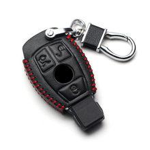 Funda de cuero genuino para llavero de coche, funda para llavero para Mercedes Benz CLS CLA GL R SLK AMG A B C S Class, accesorios para mando A distancia
