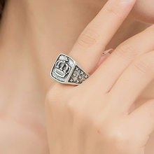 Fashion Hip Hop Star Cross Crown Ring Men Accessories Vintage Punk Rock Big Biker Signet Ring Antique Silver Tibetan Jewelry(China)