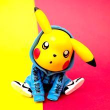 2020 Hot Toy Pokemon Figures  tide costume model decoration Pikachu toy doll of kids Movie & TV Vinyl Doll