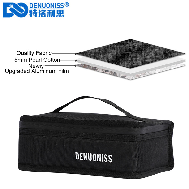 DENUONISS Cute Small Lunch Bag 900D Oxford Tote Insulated Bag For Men Aluminum Foil Food Bag Women Kids Lunch Box Picnic Bag