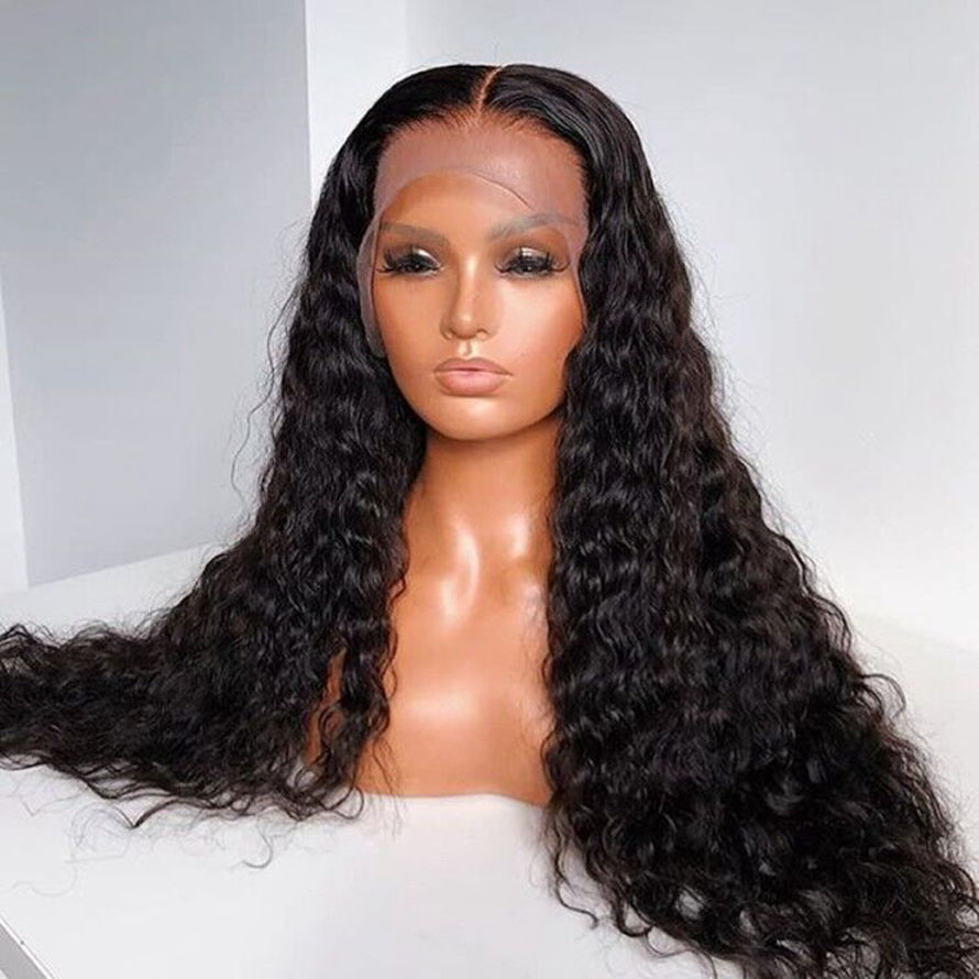 180% Hair Pre Plucked Full Lace Human Hair Wigs With Baby Hair Glueless Curly Full Lace Wigs For Black Women Brazilian Remy Hair