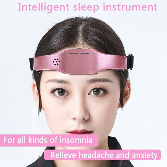 Electric Head Massager Sleep Monitor Migraine Relief Massager Insomnia Therapy Release Stress Sleep Therapy Device Sleeping Di 2