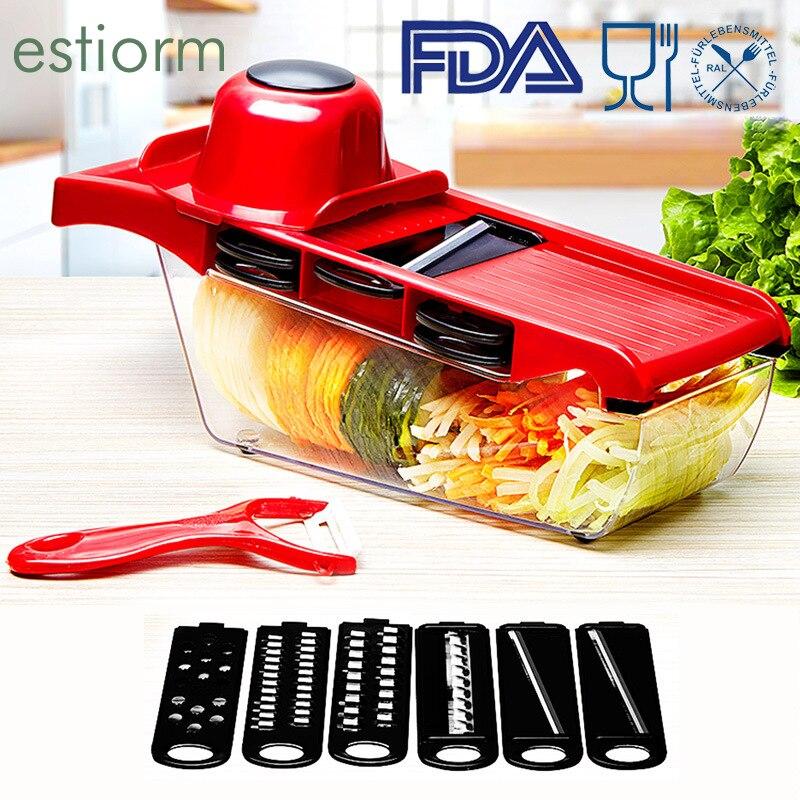 Многофункциональная овощерезка/Измельчитель для продуктов, 6 в 1, Терка-шинковка, картофелечистка, терка для моркови/сыра, ручная овощерезка