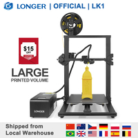LONGER LK1 3D Printer with 2.8 Touch Screen Big Printed Volume Unique Frame Design Resume Printing 3D Print Printer 3D
