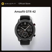[Склад в России] глобальная версия Amazfit GTR 42 мм умные часы 12 дней аккумулятор 5ATM женские часы GPS управление музыкой для Android