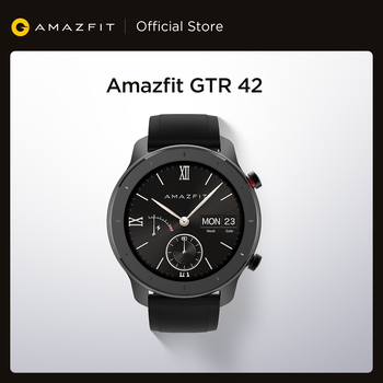 [Ship from Russia] Global Version Amazfit GTR 42mm Smart Watch 12 Days Battery 5ATM women's watch GPS Music Control For Android
