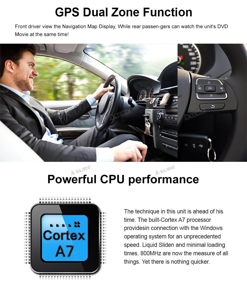 WIN CE VW 2 Din GPS DVD Golf Polo Passat B6 SEAT RDS DAB + 65