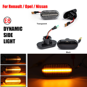Image 1 - 2Pcs/Lot LED Dynamic Turn Signal Side Marker Lamp For Dacia Duster Dokker Lodgy Renault Megane 1 Clio1 2 KANGOO ESPACE Smart