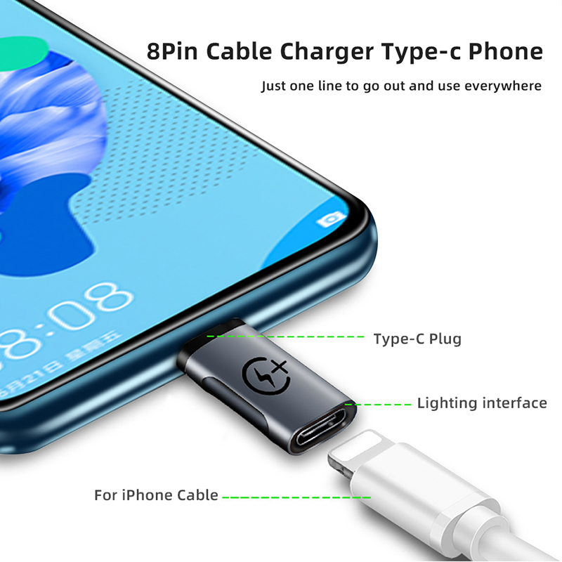Ihuigol мини адаптер типа OTG c для освещения Мужской Для iPhone 11 Pro Max USBC Разъем для samsung S9 S10 Зарядка конвертер данных