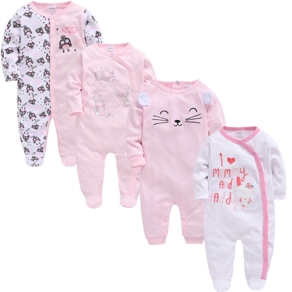 2020 New Body Baby Girl Ropa Bebes Cotton Clothes 3 4 Pcs/set Long Sleeve Spring Boy 3m 6m 9m 12m Newborn Infant Rompers