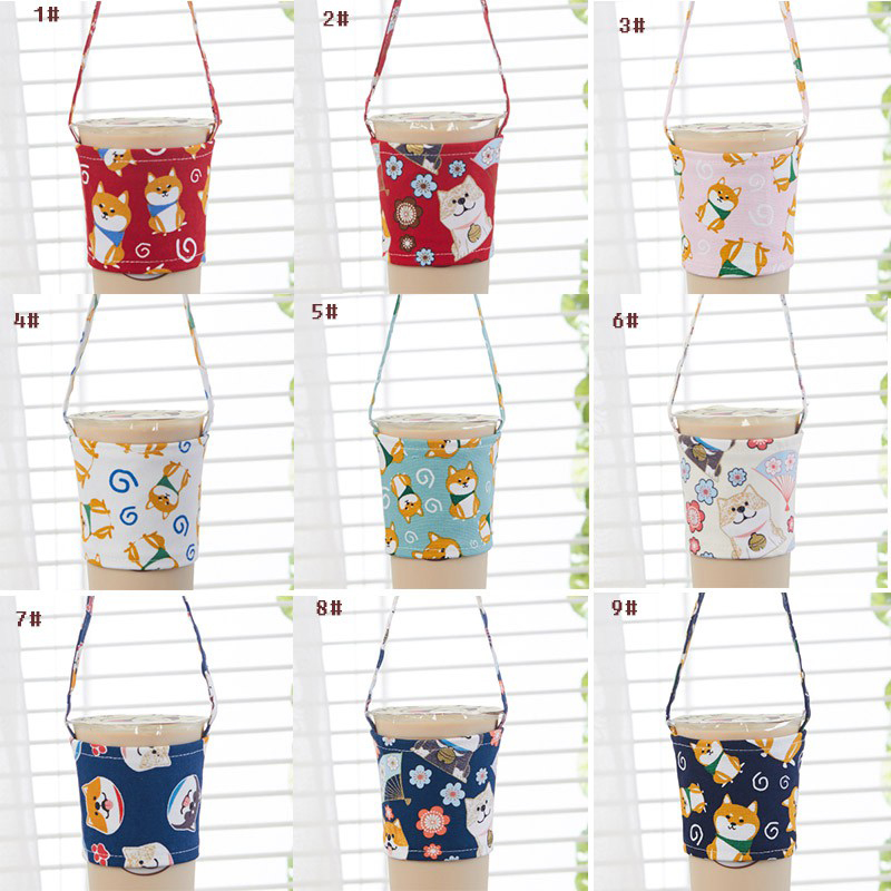 Teacup-Set Beverage-Bag Mug-Wrap Small-Bags Anti-Hot Coffee Cartoon Cute Milk Eco-Friendly