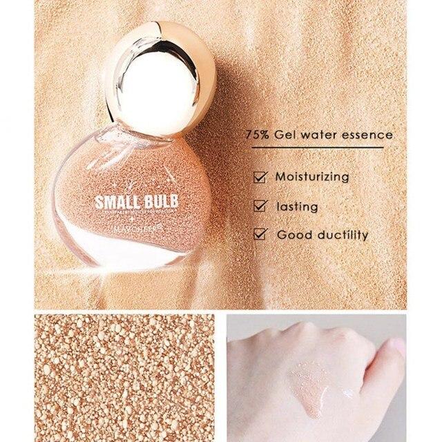Petite ampoule fond de teint liquide correcteur hydratant propre maquillage nu et correcteur de teint lumineux pour les femmes