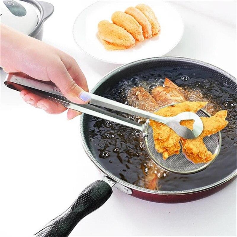 Кухонные аксессуары, кухонные принадлежности, кухонные инструменты, фильтр для жарки масла, зажим из нержавеющей стали, сетчатый фильтр, ку...