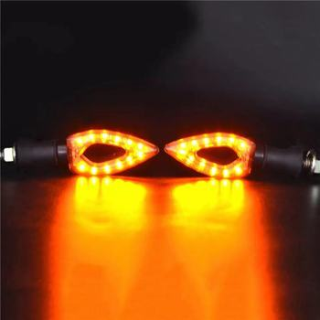 1 Pair Motorbike Motorcycle Turn Signal Indicators Light Universal 12 LED Amber Blinker Lights/lamp For Honda Yamaha image