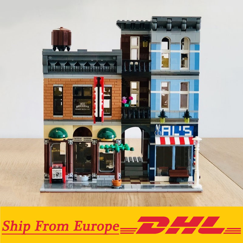 City Street Series The 15011 Detective's Office House Set Assemble 2262Pcs Building Blocks Toys Compatible with Legoings 10246 1
